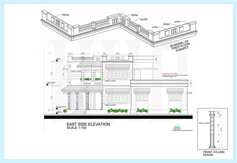 1170 square feet floor plan and elevation kerala home 2478 sq ft 4 bedroom home elevation with floor plans
