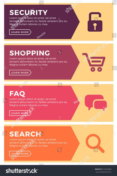 Faqs Search Design Concept Website Template Security Shopping Stock Vector 316229600
