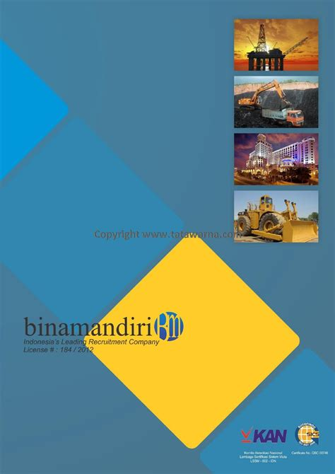contoh desain company profile booklet perusahaan manpower