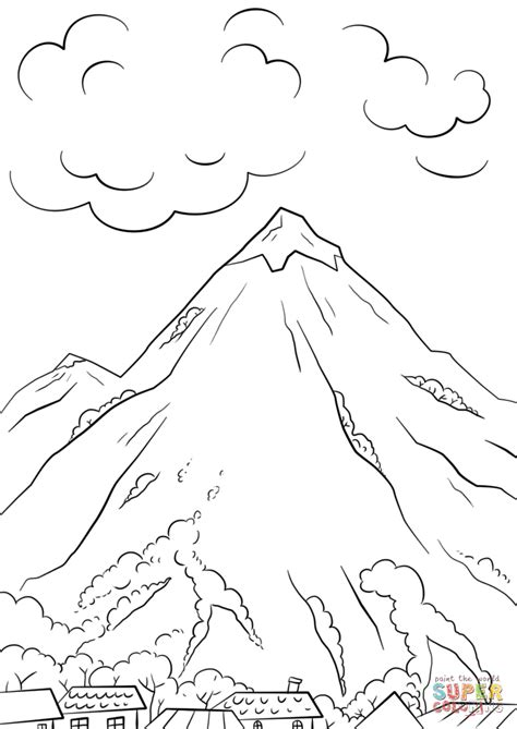 Mountain Scene Coloring Page Free Printable Coloring Pages Mountain Coloring Pages