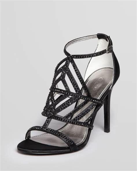 guess black high heels guess sandals hilonas rhine high heel in black lyst