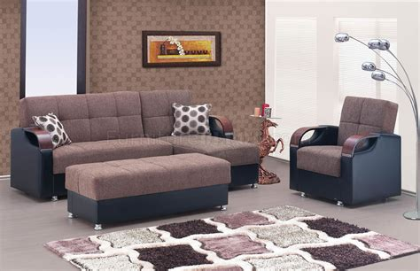 soho sectional sofa in brown chenille fabric by w options