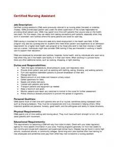 Resume Sample For Nursing Job job description for resume resume exampl cna resume certified nursing
