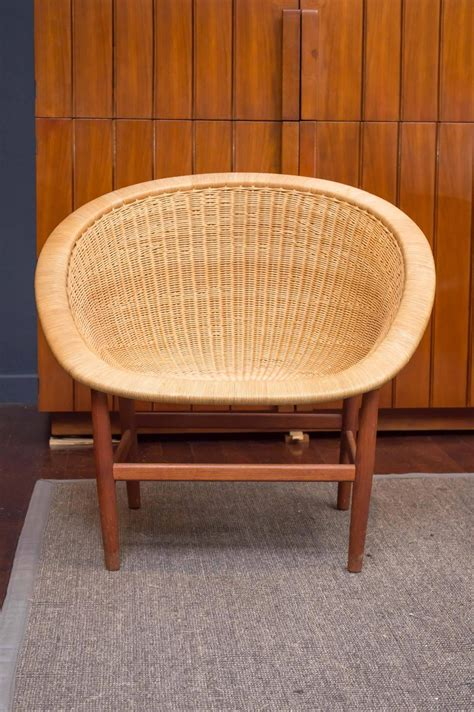 nanna and j 248 rgen ditzel wicker lounge chairs for sale at