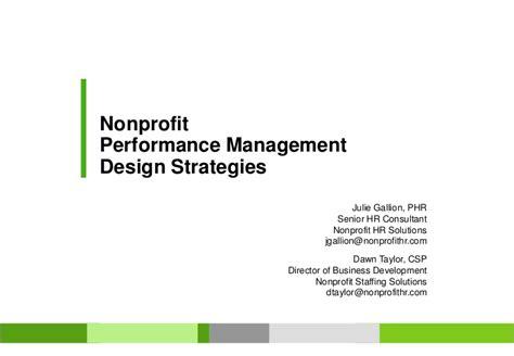design management tips nonprofit performance management design strategies