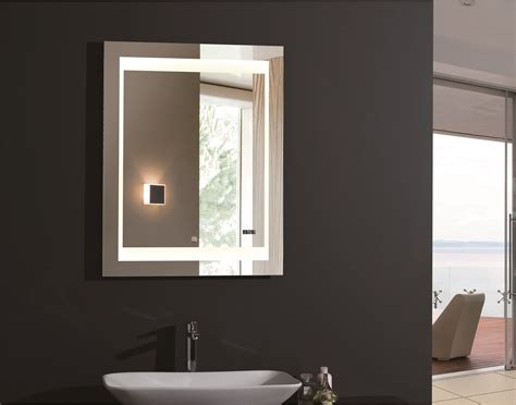 lighted bathroom vanity mirror zen lighted vanity mirror led bathroom mirror