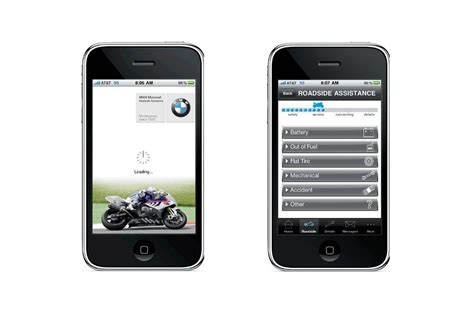 bmw motorcycles launches roadside assistance iphone app