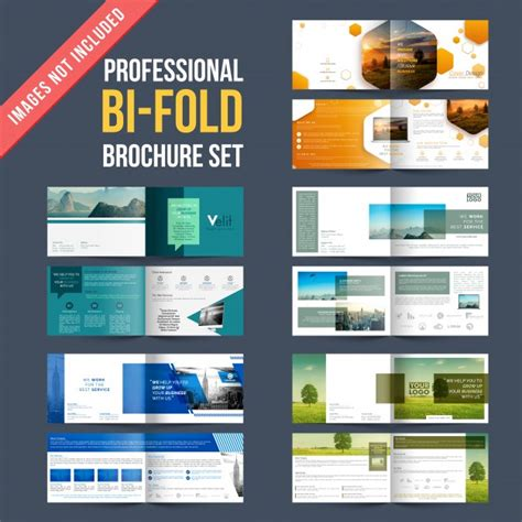 brochure design editor set of 4 brochures designs with four pages designs