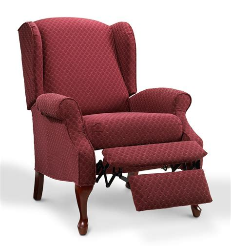 Chair: Appealing Wing Back Recliner For Comfy Home