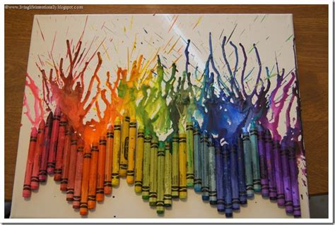 Hair Dryer Rainbow By El Diablos melted crayon artwork