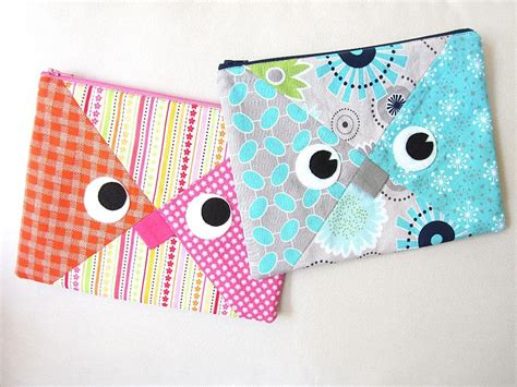 sewing pattern zipper case owl pencil case zipper pouch by myfunnybuddy craftsy