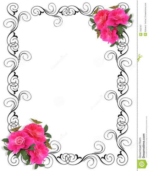 Bonia Bunga Silver frontera ornamental de la invitaci 243 n rosada de las rosas