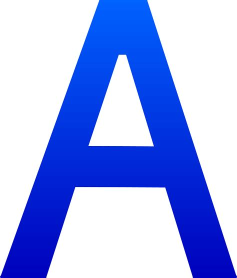 blue letter a clipart cliparts and others inspiration