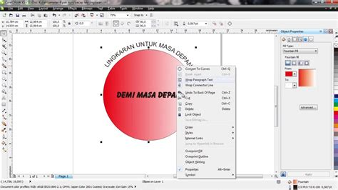 tutorial corel draw youtube tutorial corel draw cara membuat teks melingkar 2 youtube