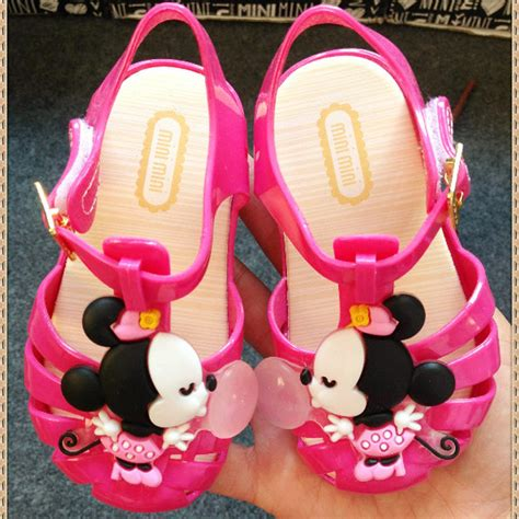 Jelly Shoes Mickey Minnie Jelly Shoes Anak summer minnie mouse mickey sandals jelly