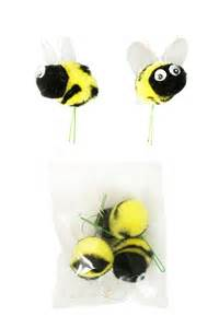 Black Light Party Decorations Pom Pom Bees With Googly Eye Craft Spring Floral Picks
