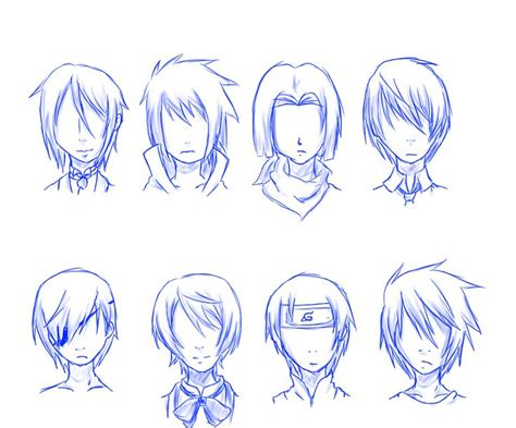 cool hairstyles drawing guy hair styles especially for anime drawing ideas