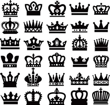 crown silhouette vector  vector    vector  commercial  format ai