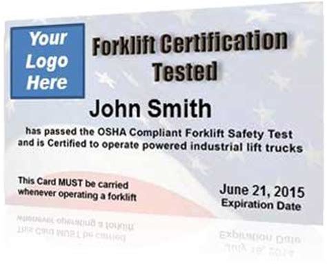 Forklift Certification Kit Get Your Employees Forklift Certified Forklift Certification Card Template Xls