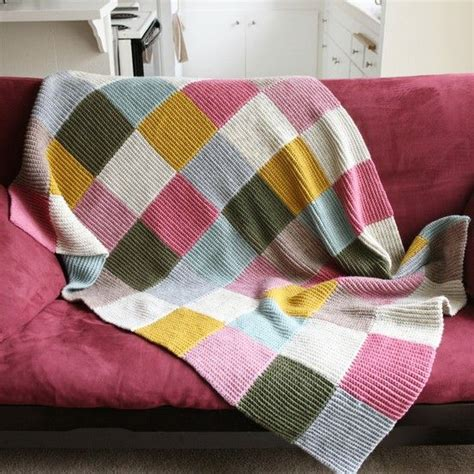 Knitted Patchwork Blanket Pattern - creating paper dreams tutorial tuesday knitted patchwork