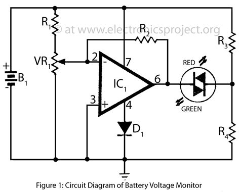 high voltage led indicator circuit battery voltage monitor electronics project