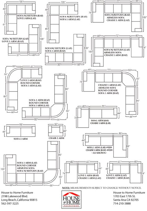 clayton sofa and sectional sizes