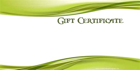 gift cards template printable gift certificate templates