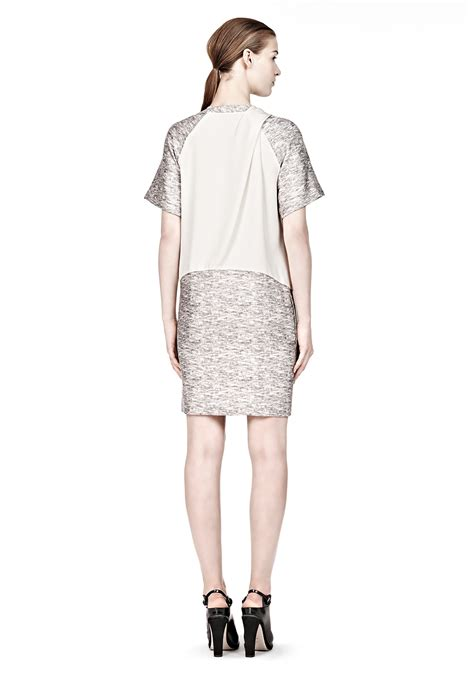 alexander wang draped dress alexander wang draped neck tshirt dress in beige