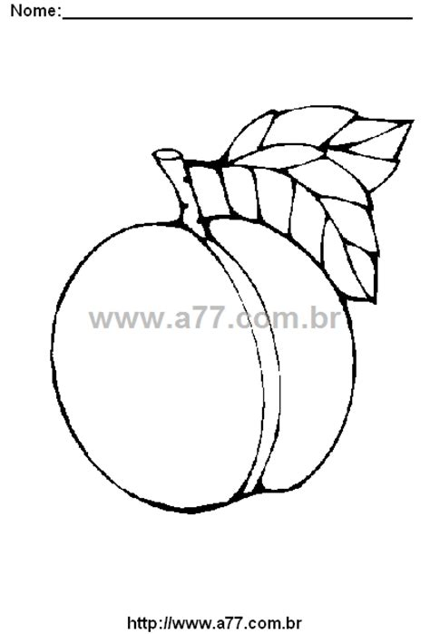 Desenho Para Colorir Tema: Frutas. Frutas Para Colorir.