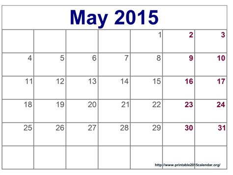 may 2015 calendar printable pdf template excel doc