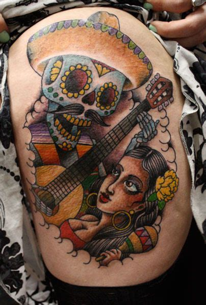 dia de los muertos tattoo love this old style