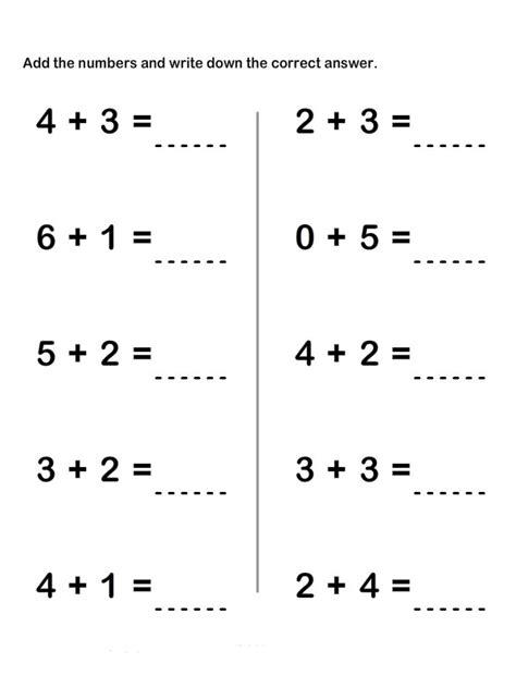 download pdf free printable 1st grade math addition