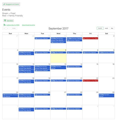 Online Database And Workflow Templates Event Calendar Event Calendar Template For Website