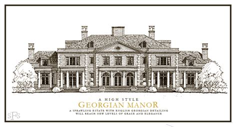 georgia house plans stephen fuller designs high style georgian manor