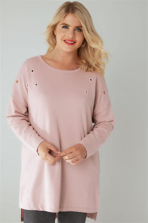 Email Delivery Visa Gift Card - dusty pink sweat top with eyelet details plus size 16 to 36