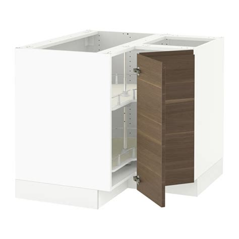 sektion corner wall cabinet with carousel white bodbyn sektion corner base cabinet with carousel white voxtorp
