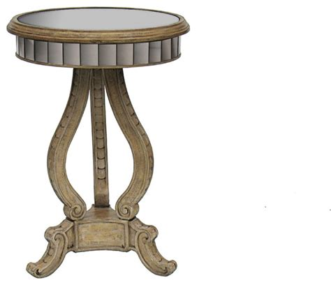 round mirrored accent table round antique mirrored accent table side tables and end