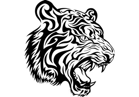 free tribal tiger vector