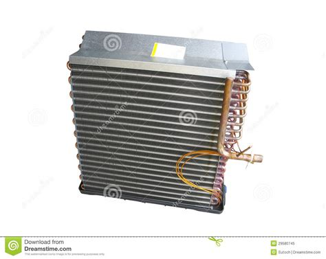 air conditioner evaporator coil air conditioner evaporator coil front royalty free stock