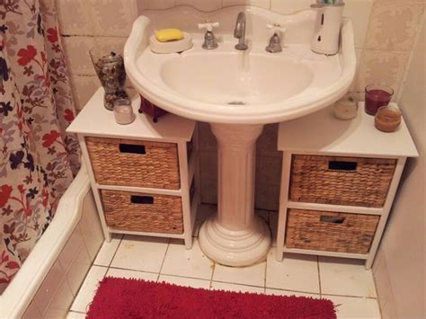 storage ideas for bathroom with pedestal sink 25 best ideas about pedestal sink bathroom on