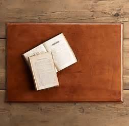 artisan leather desk mat chestnut