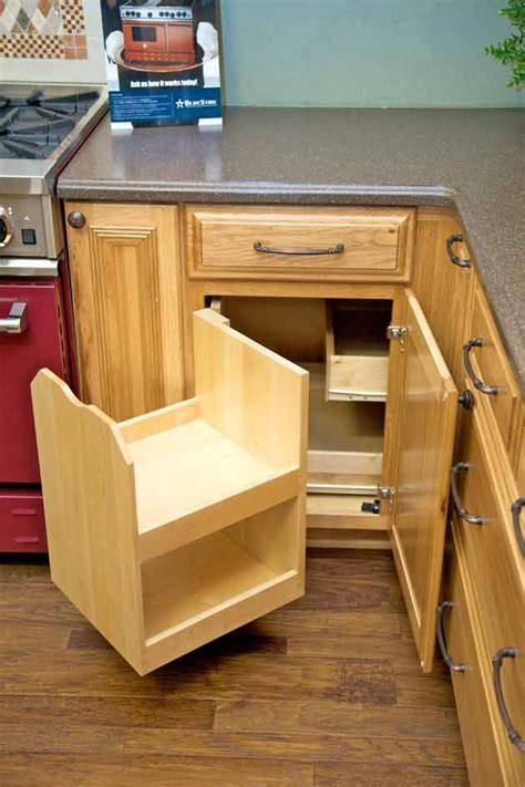 corner cabinet access solutions the blind corner cabinet above makes better use of