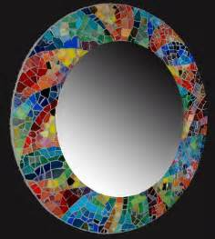 mosaic mirror love the color mosiac ideas pinterest