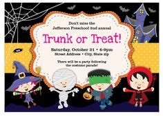 trunk or treat flyer templates flyer templates trunk