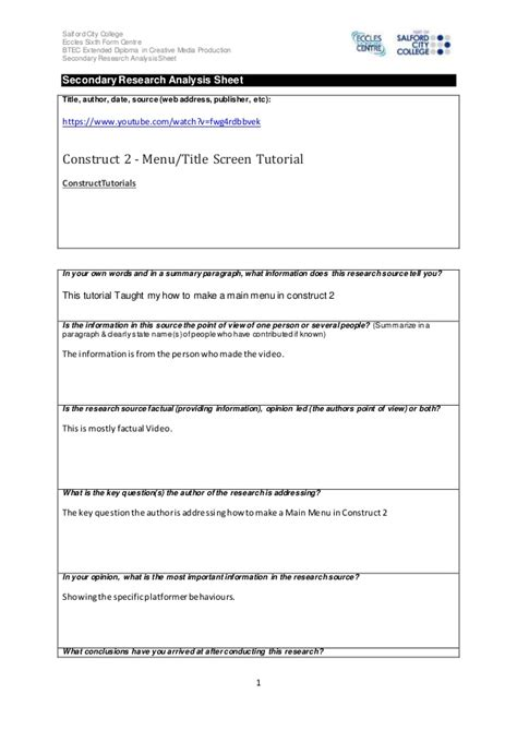 source analysis 1 7 univ 200 secondary research source analysis sheet video 3