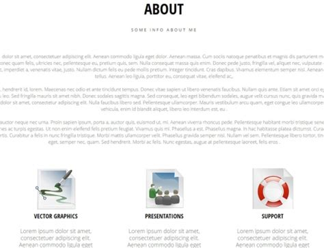 simple portfolio free responsive muse templates widgets
