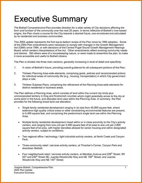 business plan executive summary template executive summary sle template business