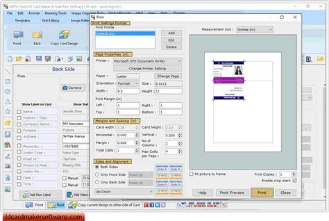 visitors id cards maker for mac screenshots to know how to screenshots of gate pass id cards maker to create visitors