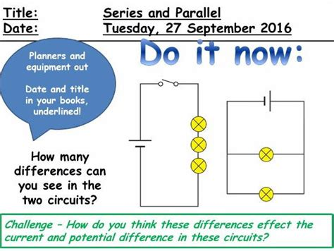 parallel circuits ks3 worksheet series and parallel circuits ks3 by ellisbrooomhall teaching resources tes