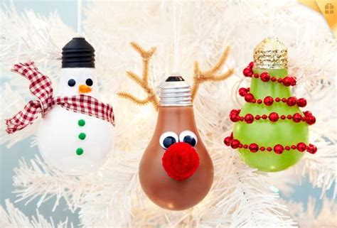 Upcycled Home Decor Ideas creative ideas diy light bulb christmas ornaments